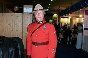 Canadian mountie entertains at EIBTM networking event