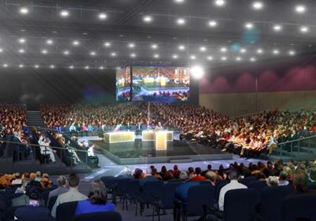 The Lennox Suite's arena will seat 1,400 delegates