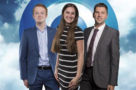 (Left to right) James Jackson, Georgina Williams, Jamie Hunter