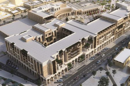 Aerial rendering of the Al Najada complex