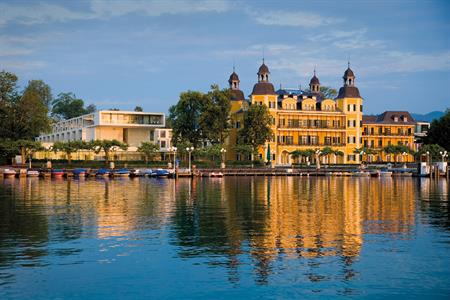 The Falkensteiner Schlosshotel Velden (showing the old and traditional architecture of the city)