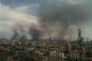 Bangkok on 19 May, view from Chaophya Park Hotel & Resorts