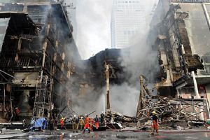 Bangkok's Central World shopping centre was burnt in protests