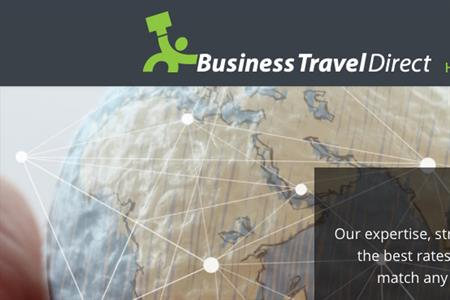 Homepage of Business Travel Direct