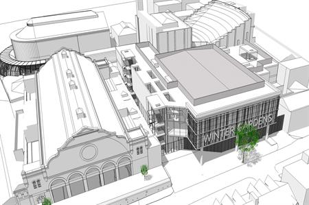 A drawing of what the new conference centre will look like