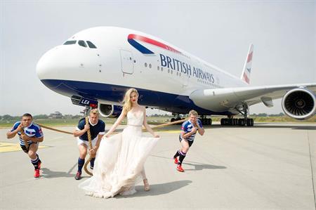 Bryan Habana, Chris Robshaw, Georgia May Jagger & Jean De Villiers help British Airways launch A380 superjumbo