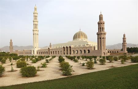 The Grand Mosque in the Muscat, Oman.
