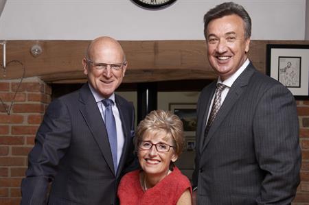 CH&Co's chairman Tim Jones, founder Robyn Jones OBE and CEO Bill Toner