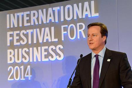 Prime Minister David Cameron launching The International Festival for Business 2014