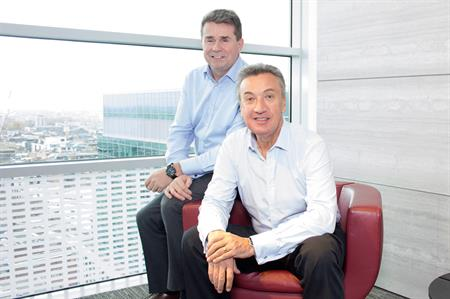 Adam Elliott, chief executive of Concerto Group (left) and Bill Toner, Group CEO for CH&Co Group (right).