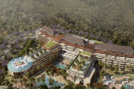 A rendering of the proposed Cordis hotel in Nusa Dua, Bali