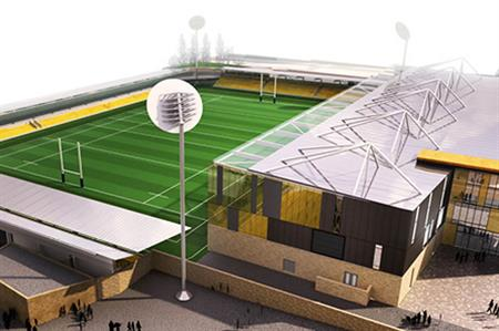 Designs for Cornwall's stadium (Holmes Miller Architects)