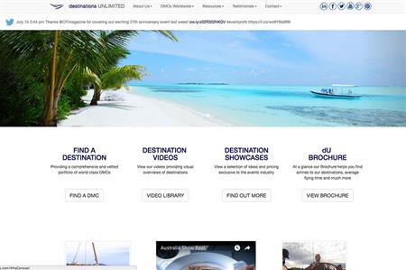 Destinations Unlimited's web offer will be available via an app