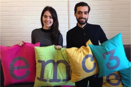 New emc3 starters Hannah Lumley (left) and Benjamin Garland