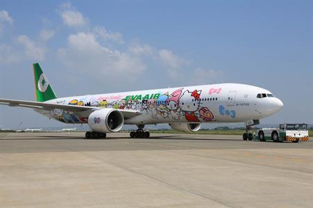 Hello Kitty jet makes European debut