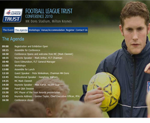 Football League Trust appoints HGA Creative Communications to deliver conference