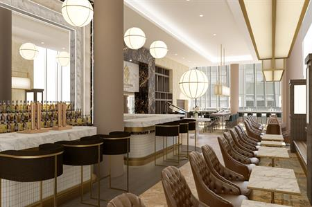 An artists impression of the hotel's bar