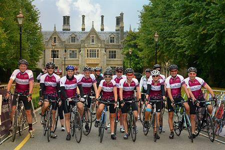 Cycle-themed teambuilding at Foxhills, Surrey