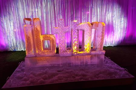 IBTM ice sculpture