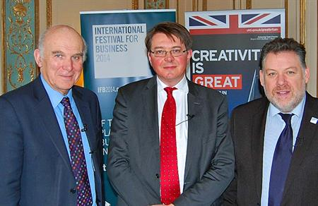 Vince Cable launches the International Festival for Business in Brussels