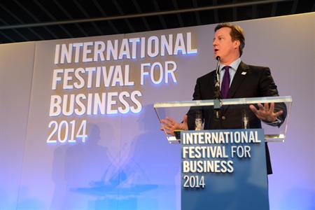 Cameron has backed the International Festival for Business 2014