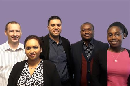 Left to right: Phil Kidby, Farida Mohamed, Ripinder Dhody, Axel Bikinkita and Constance Wilcox