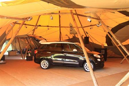 Fiat transforms Longleat into 'glamp-site' for car launch