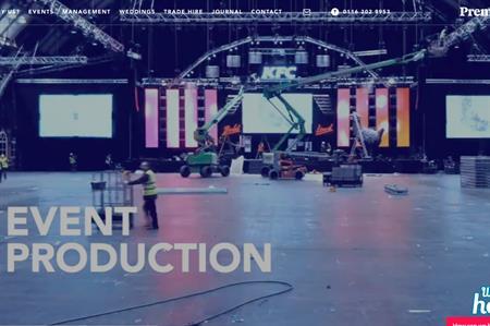 Premier Events' homepage