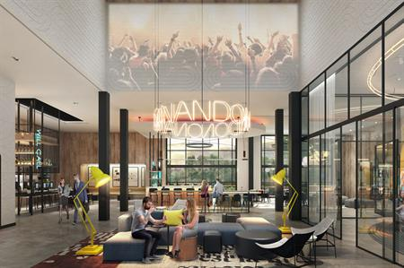 A rendering of how the new hotel will look