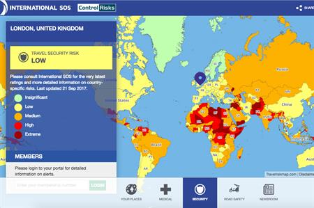 Worlds riskiest destinations revealed by new interactive map CIT