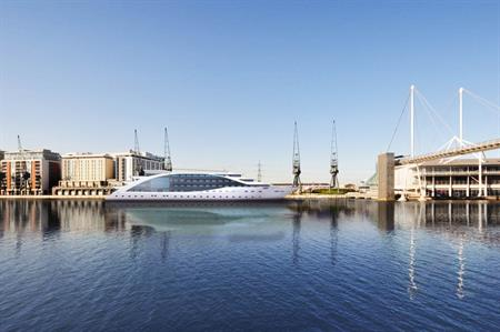 Sunborn London super yacht will be permanently moored at Royal Victoria Docks