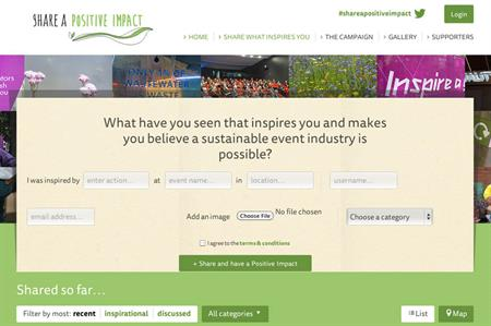 Shareapositiveimpact.com website unveiled at Sustainable Events Summit today (18 February)