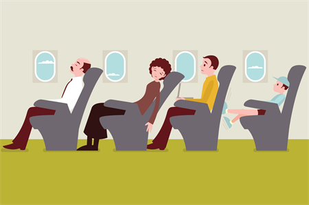 Surviving long-haul flights: relaxation, meditation and hydration