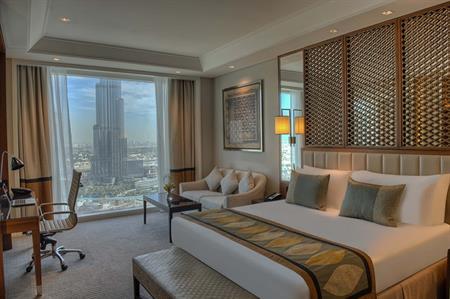 The new Taj Dubai boasts views of the Burj Khalifa
