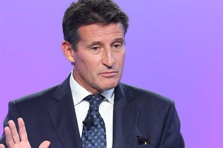 Lord Coe spoke at the Tata Consultancy Services conference in Cannes