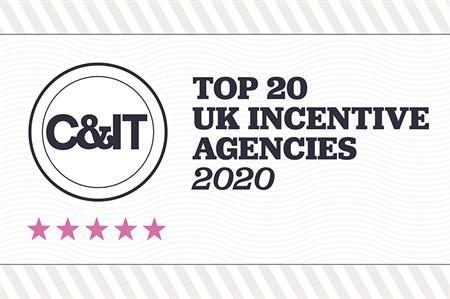 Top 20 UK incentive agencies of 2020