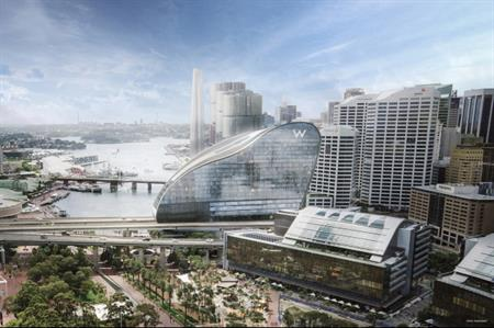 How the new hotel will look in Sydney Harbour