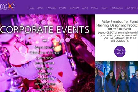 Make Events website