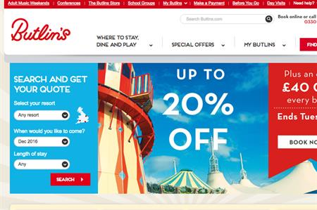 Butlins website