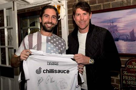 Former Spurs legend Darren Anderton with a 'Play With A Legend' delegate
