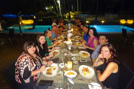 Dinner at The Level, Melia Caribe Tropical