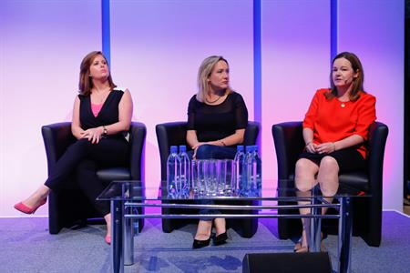 ITV's Kian Hanly, L'Oreal's Alison Williams and IBM's Vikki Bradney-Spencer at Event 360 forum