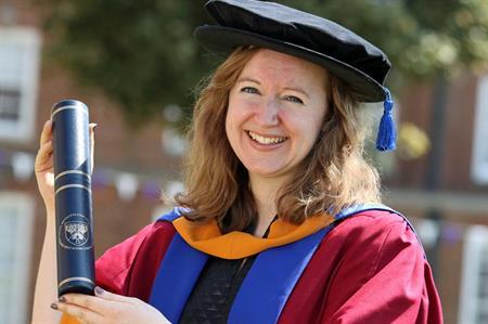 Fiona Pelham receives honorary degree from Leeds Metropolitan University