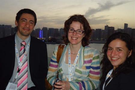 Hosted buyers enjoy Abu Dhabi's skyline at The Rosewood hotel