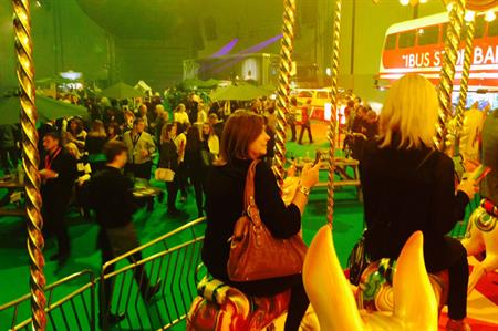 Guests enjoyed a carousel at the Liverpool Exhibition Centre launch party
