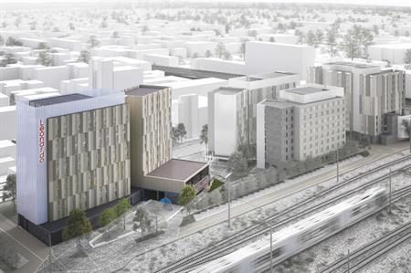 CGI of the hotel