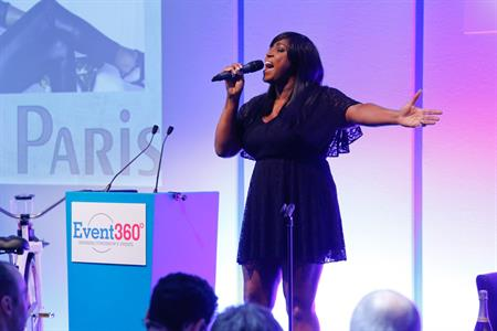A surprise performance from singer Mica Paris at Event 360 forum
