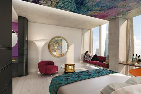 CGI of room at nhow