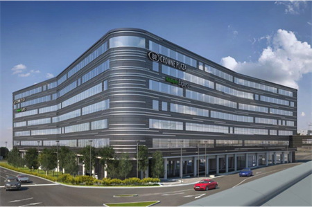 Adjoined Crowne Plaza hotel and Holiday Inn Express at Heathrow Terminal 4