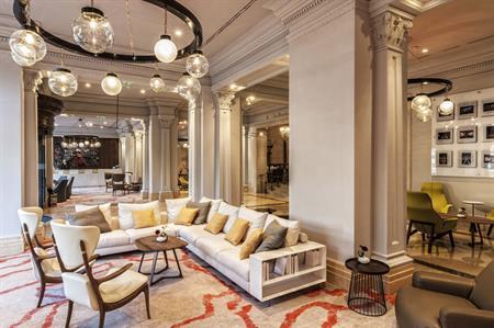 Ritz-Carlton Budapest hotel lobby design